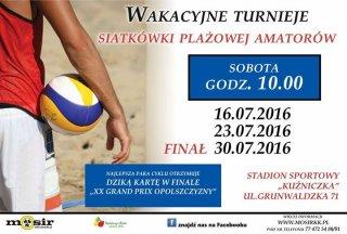 Wakacyjne turnieje siatkówki plażowej amatorów