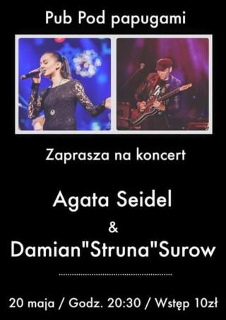 """Koncert duetu Agata Seidel i Damian """"Struna"""" Surow"""