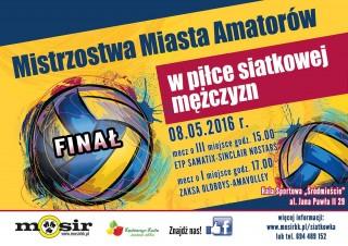 Finał Mistrzostw Miasta Amatorów w piłce siatkowej