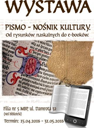 Pismo nośnik kultury. Od rysunków naskalnych do e-booków