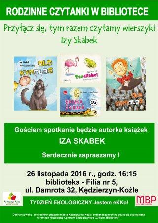 Rodzinne czytanki - spotkanie z Izą Skabek