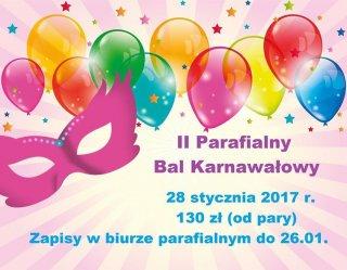 II Parafialny Bal Karnawałowy