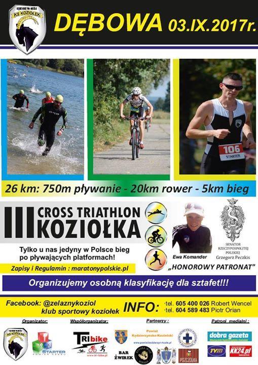 Plakat: III Cross Triathlon Koziołka