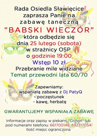 Babski Wieczór w Sławięcicach