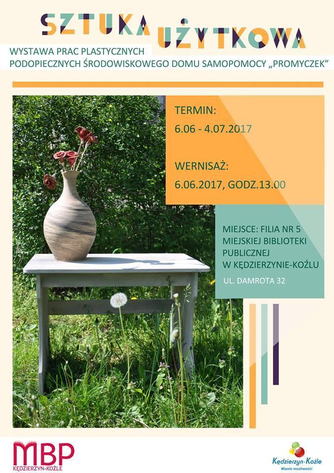 """Plakat: Wystawa pt. """"Sztuka użytkowa"""""""