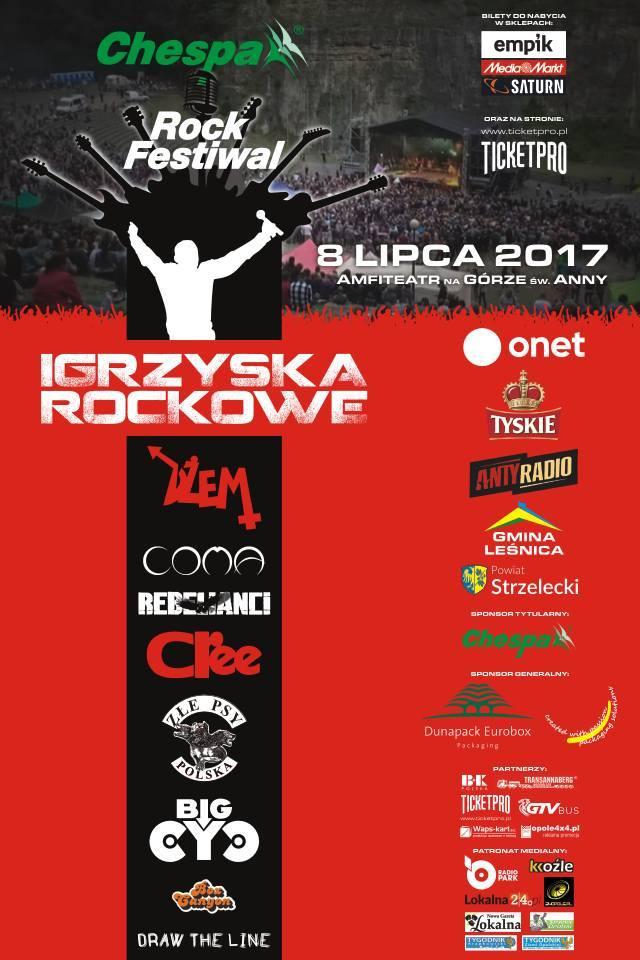 Plakat: Chespa Rock Festiwal - Igrzyska Rockowe