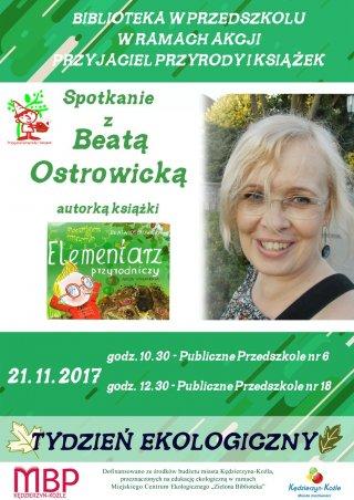Spotkanie z Beatą Ostrowicką