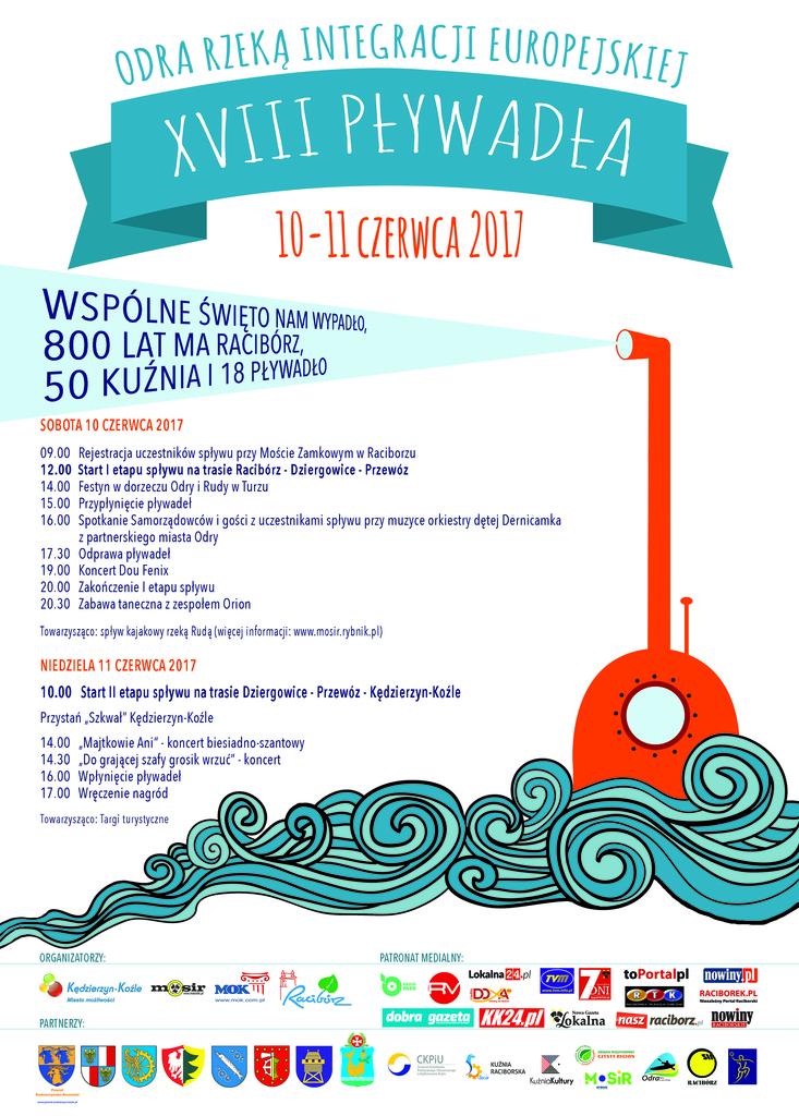 Plakat: XVIII Pływadła 2017 - Spotkanie z uczestnikami spływu