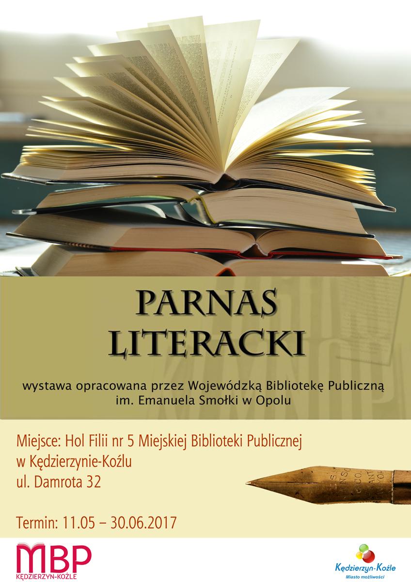"""Plakat: Wystawa pt. """"Parnas literacki"""""""