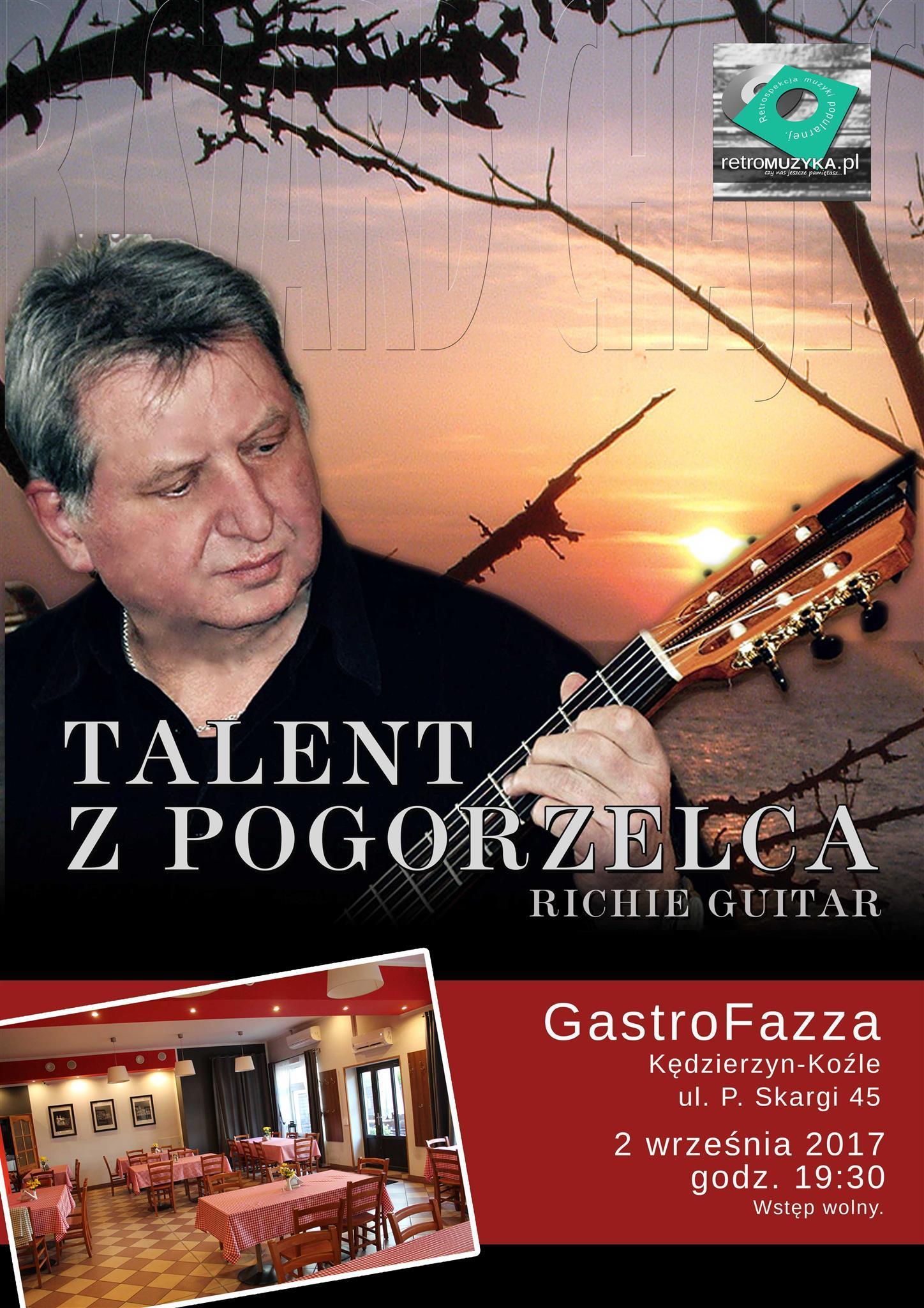 Plakat: Recital gitarowy Ryszard Chajec