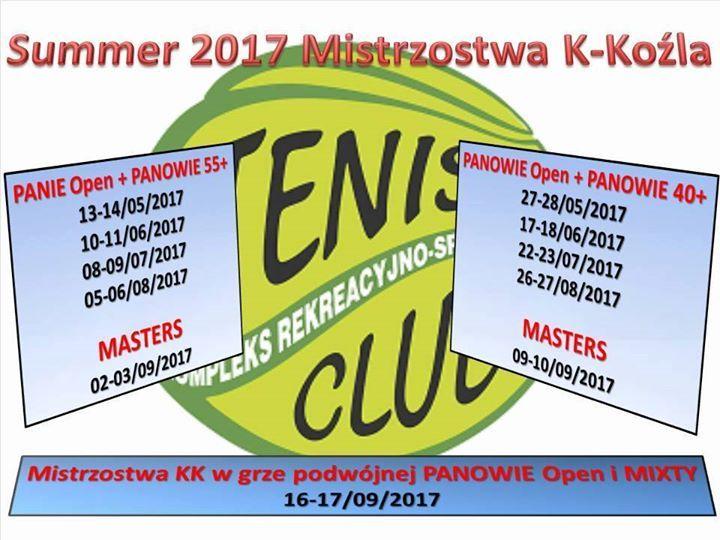 Plakat: Tenisowe Mistrzostwa KK Masters