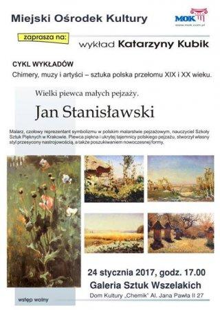 Wykład o historii sztuki: Jan Stanisławski