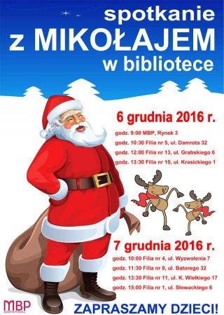 Spotkania z Mikołajem w bibliotece